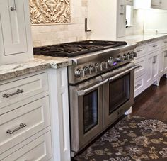 White Cabinets Silver Pulls