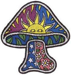 """3  5//8/"""" Embroidered Iron On Patch Sun Face Sunrays Sun Celestial"""