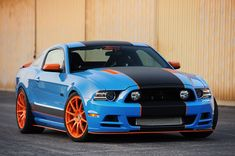 Rating and specs of Ford Mustang Bojix Design - top speed 325 kph, power 605 hp. 2013 Mustang, Blue Mustang, Mustang Cars, Ford Mustang Gt, Ford Gt, Fort Mustang, American Classic Cars, Power Cars, Trucks