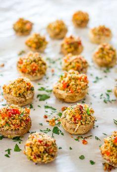 Vegetarian Stuffed Mushrooms | Jo Cooks