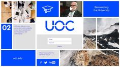 Animation for Barcelona-based advertising agency BCN Classe, to present the new corporate image of UOC (Universitat Oberta de Catalunya).