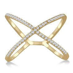1/2 Carat Diamond Criss Cross X Ring in 10K Yellow Gold Szul http://www.amazon.com/dp/B00UN1PNAS/ref=cm_sw_r_pi_dp_0q5Ivb0R9R6BB