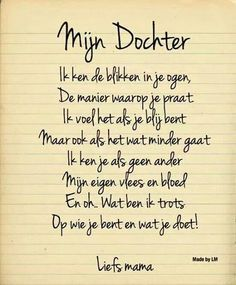 Quotes For Kids, Family Quotes, Sad Quotes, Best Quotes, Qoutes, Inspirational Quotes, Love Rules, I Love My Daughter, Dutch Quotes