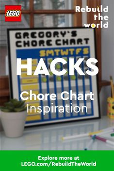 Need some creative help organizing yourschoolworkor homechores? Thisuseful tracking chart hack inspiration can handle just about any group of tasks. When you build something, share it using #RebuildTheWorld and find other compelling stories and ideas at www.LEGO.com/RebuildTheWorld