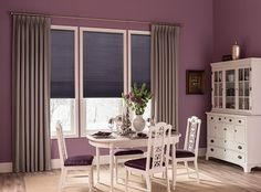 View 15 elegant and stylish dining room curtain ideas to get inspired for your next dining room remodel. Dining Room Drapes, Dining Room Windows, Elegant Dining Room, Luxury Dining Room, Curtains And Draperies, Rustic Curtains, Drapery, Living Room Bedroom, Living Room Decor