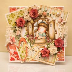 Hi everyone, hope you're having a great weekend. Did you see our new challenge over at Magnolia Down Under. Lavinia Stamps, Arts And Crafts, Paper Crafts, Shabby Chic Cards, Step Cards, Magnolia Stamps, Beautiful Handmade Cards, Scrapbook Cards, Scrapbooking