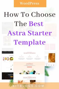 Looking to use WordPress Astra theme but don't know which Starter Template to choose? Check out what to consider and why most considerations don't matter! There's always a work-around and Starter Templates are merely jumping off points with a fast, customizable, and lightweight theme: Astra. #startablog #kitblogs #wpastra #astra #startawebsite #wordpress #wordpressastra