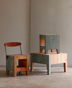 End grain tables and chairs