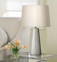 Hammered Metal Cylinder Silver Leaf 27 1/2-Inch-H Table Lamp
