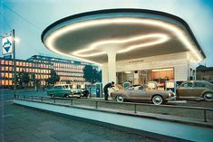 The Gas Station Golden Age, 1958 - This gas station near ARAL Gas Headquarters in Bochum, Germany, made quite a head turner.