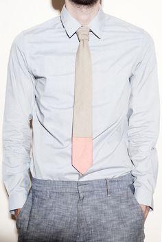 color block tie