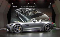Even before the month Mercedes announced that during the Paris Motor Show will present outdoor versions of its supercar AMG GT. The presentation of two modifications – Mercedes-AMG GT Roadster and GT C Roadster, took a separate event in the French capital by car surprised with a number of technical solutions. Both cars are created based on the coupe coupe GT / GT S, but differ significantly from them. Some technologies in both roadster are borrowed directly from the runway modification…