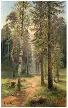 Forest Landscape by Simeon Fedorovich Fedorov in Russian Art Auction on November 2013 at the null null sale , lot 87 Forest Landscape, Landscape Art, Landscape Paintings, Cool Landscapes, Beautiful Landscapes, Beautiful Paintings, Oil Painting Pictures, Pictures To Paint, Environment Painting