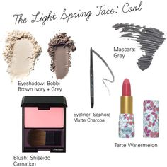 The Light Spring Face: Cool by catelinden on Polyvore featuring beauty, tarte…