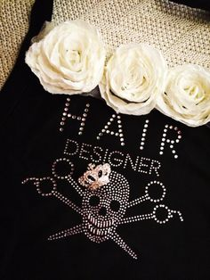 OMG i want!   Vintage Skull Hair Stylist Apron w/ Cream by AllieNicoleBoutique