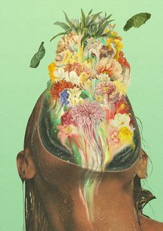 [NSFW] Vintage Porn Bursts with Flowers in Dromsjel's Psychedelic Erotic Collages - Creators