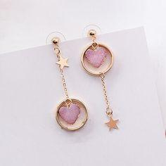 Gold Heart Stud Earrings/ Minimalist Earrings/ Heart Earrings/ Rose Gold Earrings/ Gift for Her/ Dainty Earrings/ Graduation Gift - Fine Jewelry Ideas Girls Earrings, Cute Earrings, Heart Earrings, Dangle Earrings, Diamond Earrings, Chandelier Earrings, Round Chandelier, Dainty Earrings, Stud Earring