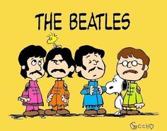 The Beatles Peanuts style