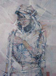 Etched and Painted Work from Jason Thielke - Jason Thielke's beautiful imagery navigates the astoundingly complex dynamics of human nature, mixing a hard linear style with soft and fluid emotion.   #Art #Etching #Engraving #Painting  
