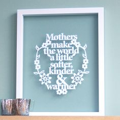 Papercut for Mothers / Grandparents by antdesign on Etsy, £15.00