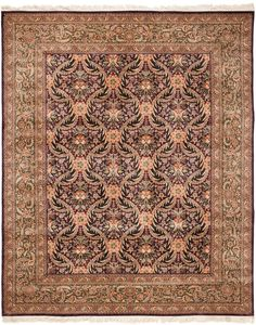 Safavieh RK8B Rug from Royal Kerman collection.  The finest rug making traditions of ancient Persia abound in the Royal Kerman Collection. The soft, lush pile is hand-knotted from the finest pure New Zealand wool and adorned the mesmerizing floral and interlaced vine motifs that make Persian carpets a coveted decorative centerpiece. The deep, rich palette creates a kaleidoscope of classic color and brilliance that will radiate through traditional decor.