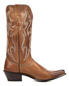 """Nocona Boots are for the Fashion Minded. Best known for their """"Legendary Fit"""", they also offer many Sizes and Widths, to accommodate all shapes of the foot. Made from Quality Leathers, they are Durable, Stylish and Handcrafted for Comfort.You'll always be pleased with western boots made by this legendary boot manufacturer. The Women's Cowgirl Posh F Toe Western Boot features a fancy stitched Cowhide leather shaft above the matching foot. The insole is cushioned for all day c..."""