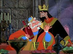 King Hubert in Sleeping Beauty: Alcoholic  - Gets his drank on just a lil too much.