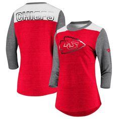 7e7ed58de Kansas City Chiefs NFL Pro Line by Fanatics Branded Women s Iconic Sleeve T- Shirt – Red Heathered Gray