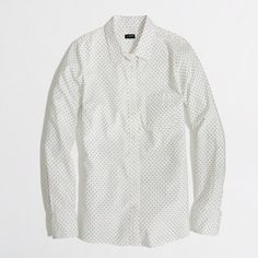 Simple and I need it. - Factory patterned oxford button-down shirt