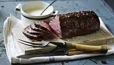 BBC - Food - Recipes : Roast fillet of beef with roasted garlic and mustard cream