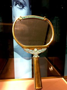 Gold and Turquoise Hand Mirror...gift to Elizabeth Taylor during filming of Cleopatra in 1962