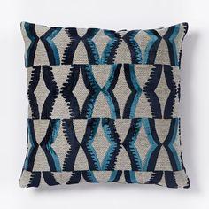 Jacquard Velvet Zip Pillow Cover - Nightshade | west elm