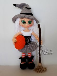 PATTERN  Cute Witch crochet amigurumi by HavvaDesigns on Etsy