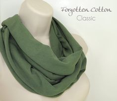 Shoply.com -Infinity Scarf Sage Green Dark. Only $20.00