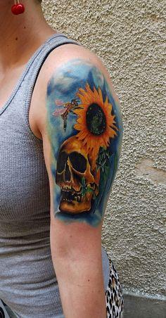 flower & skull