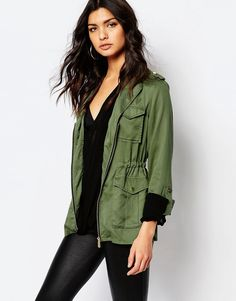 Image 1 of River Island Four Pocket Utility Jacket