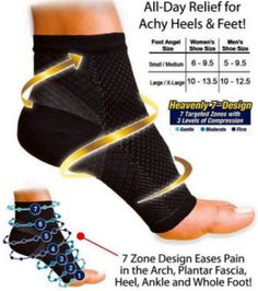New Black Anti Fatigue Compression Foot Sleeve Ankle Swelling Circulation
