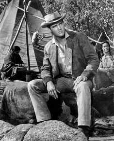 Elvis as Pacer Burton in a publicity still for the 1960 film Flaming Star. #elvis #elvispresley