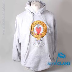 Logan Clan Crest Hoody. Free worldwide shipping available