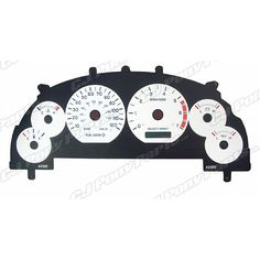 Mustang V6 Wht Gauge Face 120 Mph With Installation Tool 1999-2002