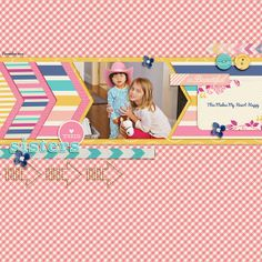 Little Miss Sunshine by Megan Turnidge and Tickled Pink Studio and September Blog Template by Scrapping with Liz on the SO Blog Layout by scrappingwithliz