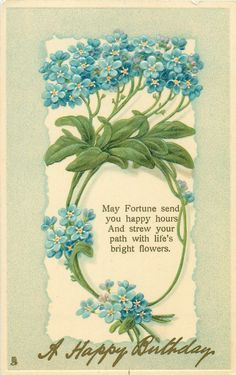 A HAPPY BIRTHDAY forget-me-nots
