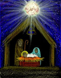 Posts about nativity clip art written by Stushie Christmas Art Projects, Christmas Yard Art, Christmas Drawing, Christmas Paintings, Christmas Crafts For Kids, Christmas Eve, Canvas Art Projects, Nativity Crafts, Winter Art