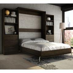 Wade Logan Lower Weston Murphy Wall Bed Size: Queen, Finish: Espresso