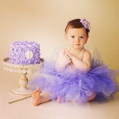 Lavender, purple, cream baby headband-Sofia the first-birthday party-photography prop on Etsy, $12.50