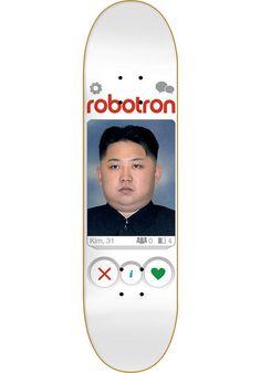 ROBOTRON Is It A Match? Kim #Deck#skateboard #titus #tinder #kim #love