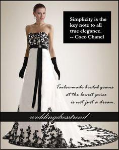 Style is the language that says it all. Love Fashion Wedding Dresses http://www.weddingdresstrend.com/en/pretty-strapless-black-applique-black-wedding-dress-wg81410055.html