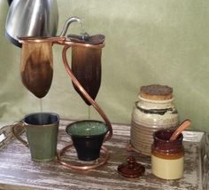 Double Coffee Sock Drip Stand by MajorMyk2014 on Etsy