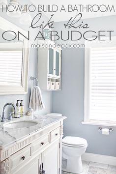 I love this bathroom! Great budgeting tips for bathroom remodel | maisondepax.com
