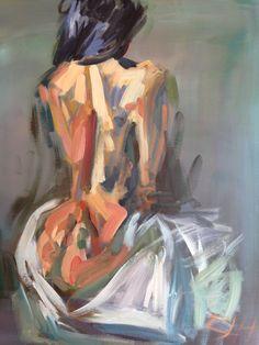 Female Body Paintings, Female Body Art, Back Painting, Woman Painting, Couple Painting, Body Drawing, Art Sketchbook, Figurative Art, Female Bodies